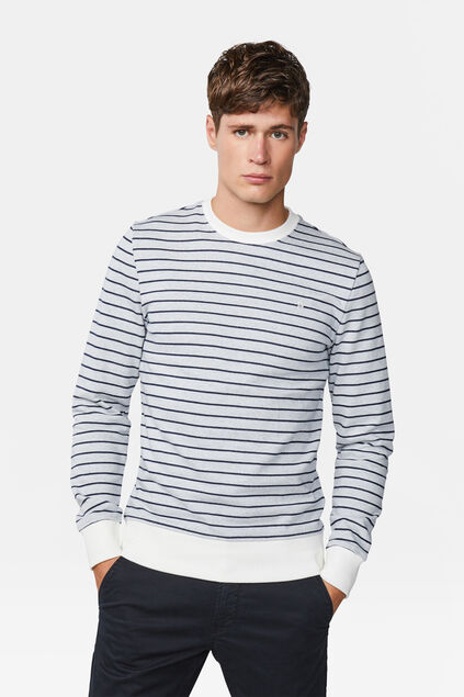 Heren gestreepte sweater Wit